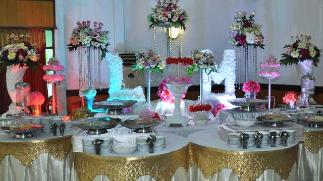 Dekorasi Dessert Wedding di Gedung Makodam