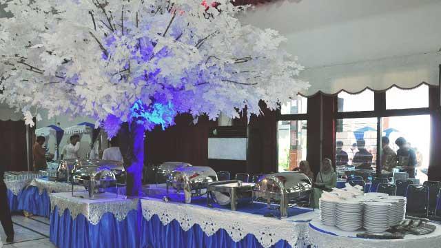 Dekorasi Buffet Wedding di Sasana Wira Sakti