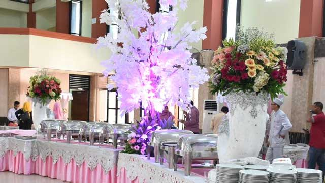 Dekorasi Buffet Wedding di GOR Otista