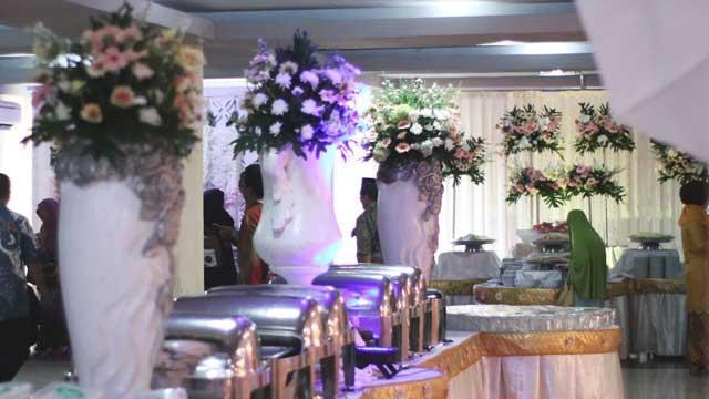 Dekorasi Buffet Wedding di Masjid Baiturrahman