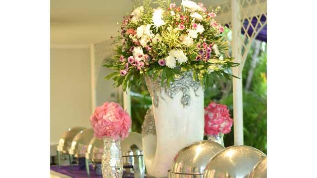 Dekorasi Buffet Wedding di Villa Mediapura