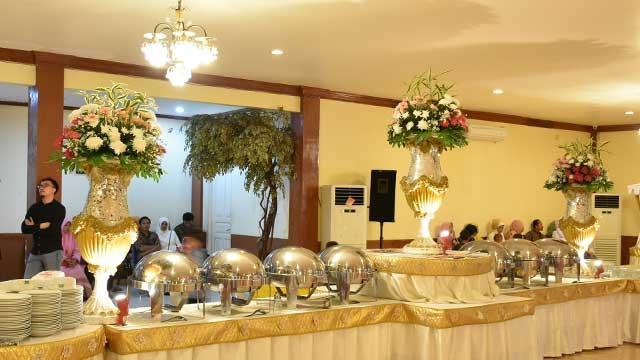 Dekorasi Buffet Wedding di Graha Bhimasakti