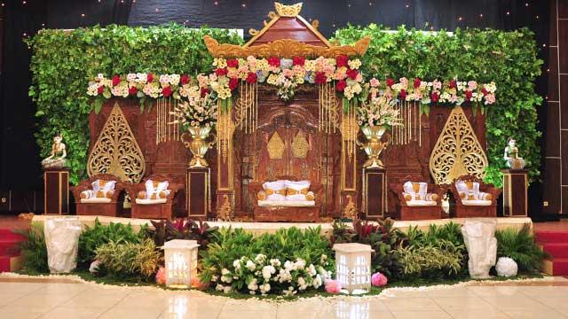 Dekorasi Pelaminan Wedding di Gedung Depsos Bekasi