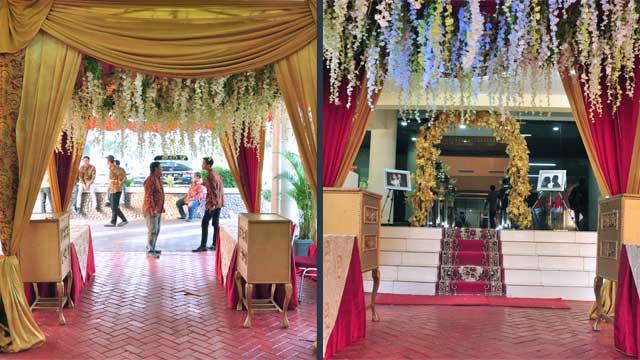 Dekorasi Gazebo Wedding di Gedung Depsos Bekasi