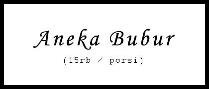 Aneka Bubur