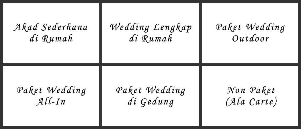 Paket Sinambi Wedding